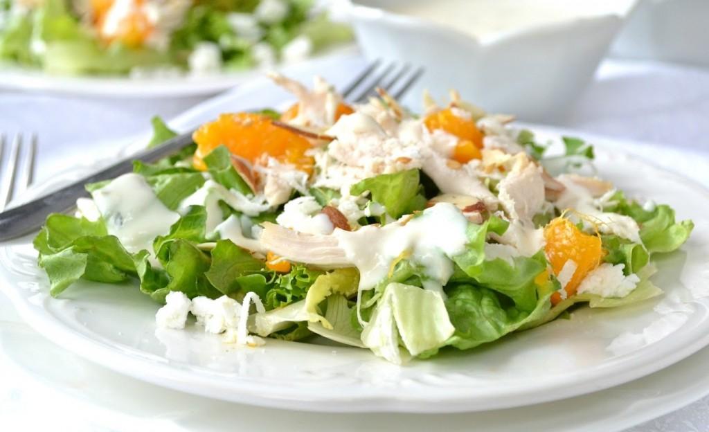 Receta para ensalada de mandarinas y pollo